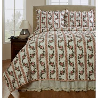 Celine Handmade 3 piece Peony Quilt Set