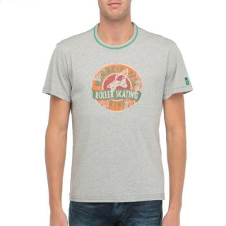 MELTINPOT T Shirt Acky Homme Gris chiné   Achat / Vente T SHIRT