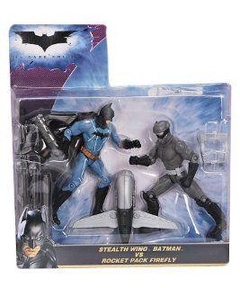 The Dark Knight Stealth Wing Batman vs. Rockt Pack Firefly