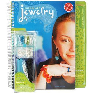 Klutz Shrink Art Jewelry 225 design Craft Kit with Instructional Book