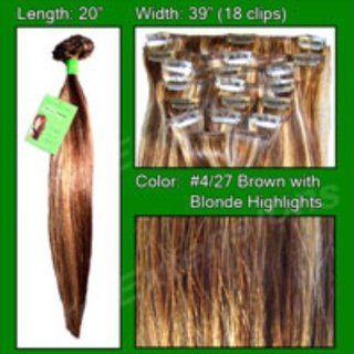 #4/27 Dark Brown W/ Golden Blonde Highlights   20 Home