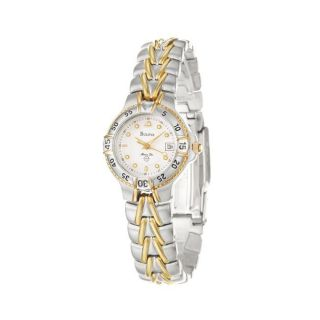 Bulova Womens Marine Star Two tone Stainless Steel Quartz Watch