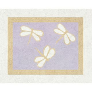 Sweet JoJo Designs Purple Dragonfly Dreams Cotton Floor Rug Today $39