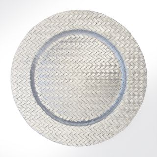 ChargeIt By Jay Silver Weave Charger Plates (Set of 4)