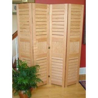 Classic Oak Natural 4 panel Room Divider
