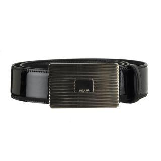 Prada Mens Patent Leather Belt