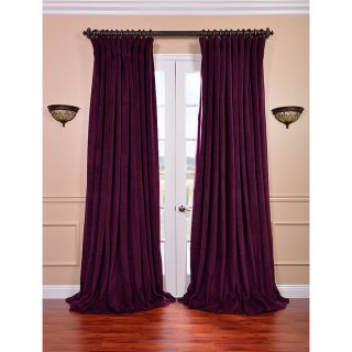 Eggplant Velvet Blackout Extra Wide Curtain Panel Today $120.49   $