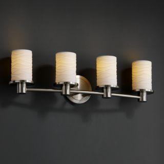 light Flat Rim Cylinder Brushed Nickel Bath Bar Today $305.99