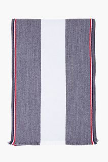 Thom Browne Grey Striped University Scarf for men