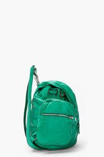 Alexander Wang Vine Green Washed Lambskin Mari Backpack for women