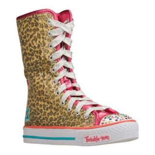Girls Skechers Twinkle Toes Shuffles Notorious Brown/Natural