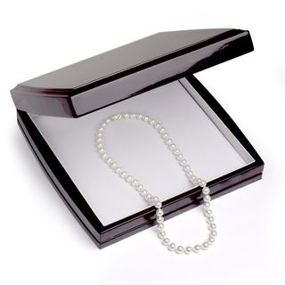 DaVonna 18k Gold White 7 7.5mm Akoya Pearl Necklace (16 36 in) with