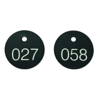Accuform Signs TDG301BK Numbered Tags, 1 1/8in, 101 to 200, PK100