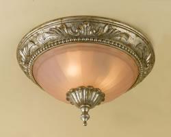 AF Lighting Serena 3 light Soft Gold Flush mount Ceiling Light