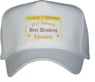 National Beer Drinking Champion White Hat / Baseball Cap