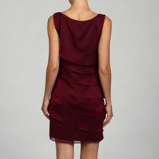 Conneced Apparel Womens Magena Solid Ruffle Dress
