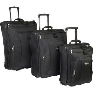 Delsey Helium Alliance 3 Piece Luggage Set (Black