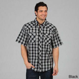 Farmall IH Mens Western Plaid Snap Button Shirt