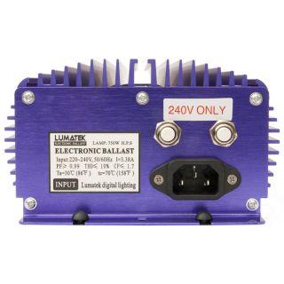 Lumatek 240V HPS/MH Dial A Watt Dimmable 750W/600W/400W