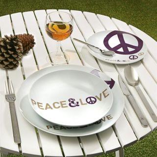 Service de table MYK 18 pièces PEACE & LOVE   Achat / Vente COUVERTS