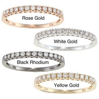 14k Gold 1/5ct TDW Round cut White Diamond Band (I J, I1 I2