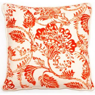 Corona Decor 18 inch Bali Collection Orange Floral Throw Pillow Today