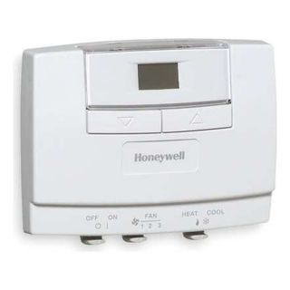 Honeywell T8575D2003 Line Voltage T Stat, Fan Coil, 4 Pipe, 24V