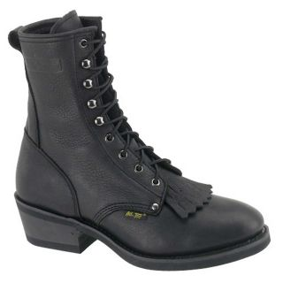 AdTec Mens Black Leather Packer Boots Today $89.09
