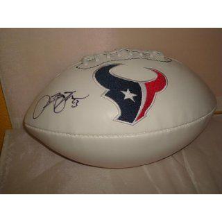 Arian Foster Signed Houston Texans Logo Football, PSA/DNA