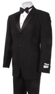 Emanuel Ungaro Mens Black Three button Tuxedo
