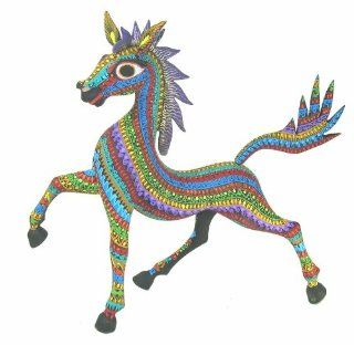 Horse 11 Inch Oaxacan Wood Carving Home & Kitchen