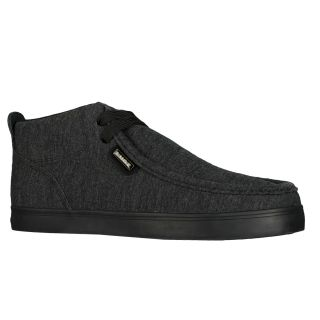 Lugz Mens Strider Jersey Heather Black Sneakers