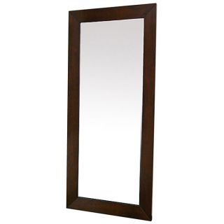 Doniea Dark Brown Wood framed Rectangular Mirror