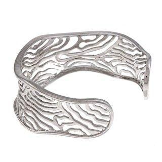 La Preciosa Sterling Silver Zebra Stripes Bangle Bracelet