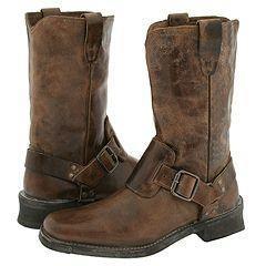 John Varvatos Panelled Ring Boot Dark Brown(Size 7.5 D   Medium