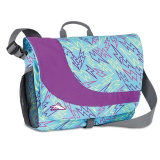 High Sierra Chip Messenger Blue Bolts/Amethyst Laptop Messenger Bag