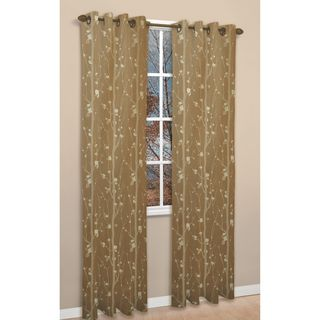 Shadows Gold Jacquard 84 inch Curtain Panel Pair