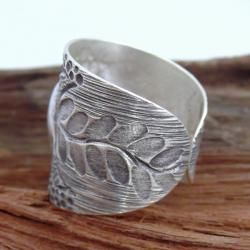 Thai Karen Hill Tribe Jungle Vine Elephant Silver Ring (Thailand