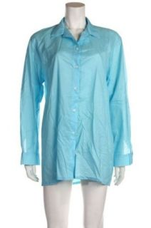 Manuel Canovas Anais Turquoise Cover up Shirt, One Size