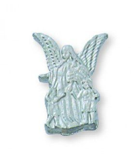 Guardian Angel Lapel Pin Patron Saint Medal Catholic Relic
