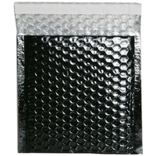 Black Metallic CD size Bubble Mailers (Pack of 12)