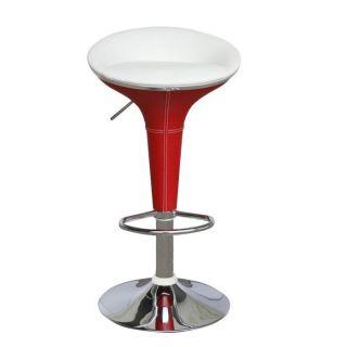 Lot de 2 Tabourets de bar COSMO Rouge et blanc   Achat / Vente