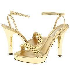 Michael Kors Darling Gold Metallic Nappa/ Gold Watch Chain