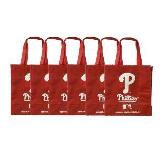 Philadelphia Phillies Reusable Bags (Pack of 6)