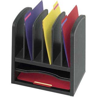 Safco Faux Leather 2 shelf Desk Organizer Today $41.03