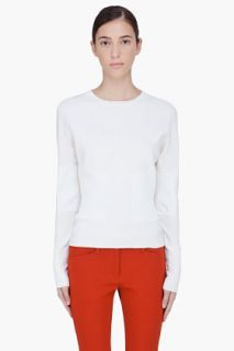 3.1 Phillip Lim Ivory Wool Ribbed Waist Sweater for women