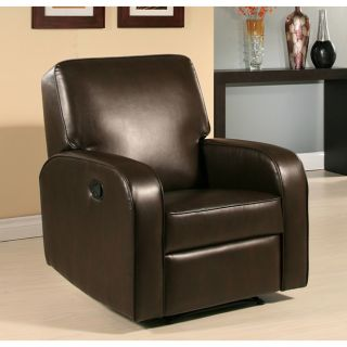 Abbyson Living Hartford Dark Brown Bonded Leather Recliner Today $426
