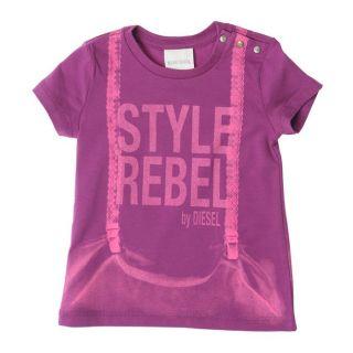 DIESEL T Shirt Trinkyb Bébé Fille Violet.   Achat / Vente T SHIRT