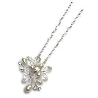 Bridal Hair Pin, Pearl & Crystal Cluster Pin 201 Clothing