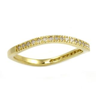 Beverly Hills Charm Yellow Gold over Silver 1/6ct TDW Curved Diamond